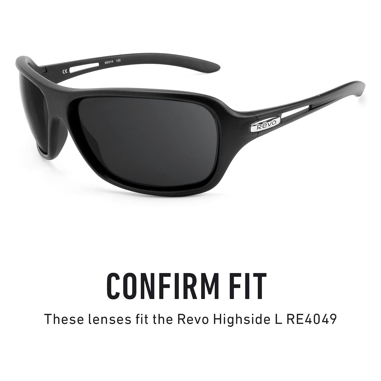 1bfd20b24d3 Amazon.com  Revant Polarized Replacement Lenses for Revo Highside L RE4049  Elite Black Chrome MirrorShield  Sports   Outdoors