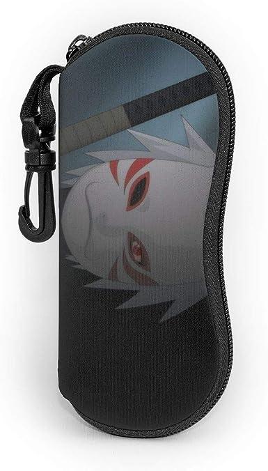 Estuche para gafas de sol con mosquetón, de neopreno, con cremallera, diseño de Naruto Hatake Kakashi: Amazon.es: Ropa y accesorios