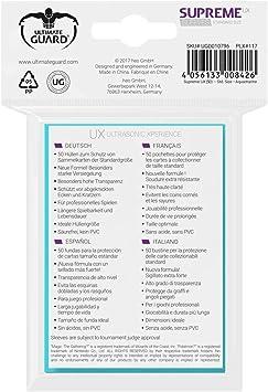 Ultimate Guard UGD10796 Supreme Ux Sleeves Turchese colore Gioco di carte Aquamarin