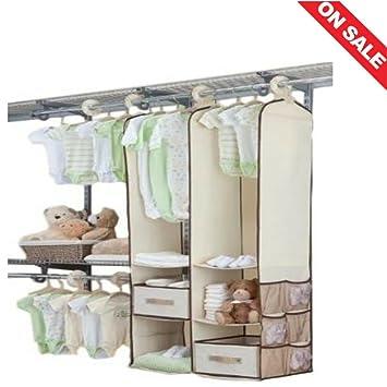 Baby Wardrobe Closets For Bedroom Nursery Hanging Closet Set Wardrobe Girl  Starter Bins Baskets Shelving Dividers