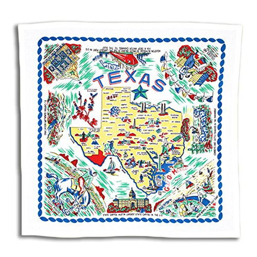 New Design! Texas State Map Kitchen Towel