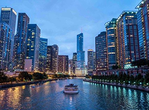 Piece City Jigsaw 500 (Adult Jigsaw Puzzle Chicago Skyscrapers City Lights Skyline 500-Pieces)