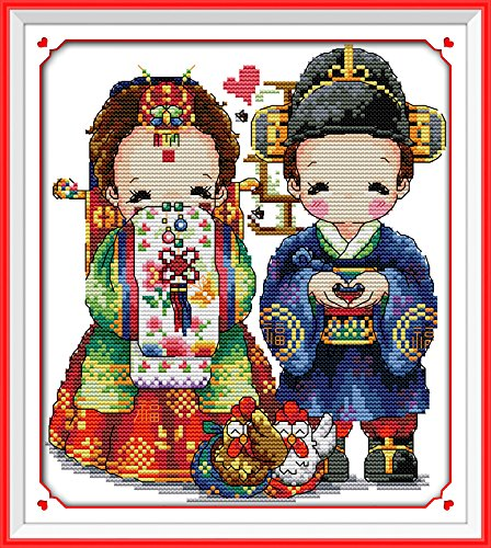 Happy Forever Cross Stitch Cartoon, Korean style wedding 3