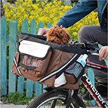 Dealglad Portable Pet Dog Cat Puppy Bike Bicycle Handlebar Car Seat Carrier Basket Travel Bag Case (Coffee)