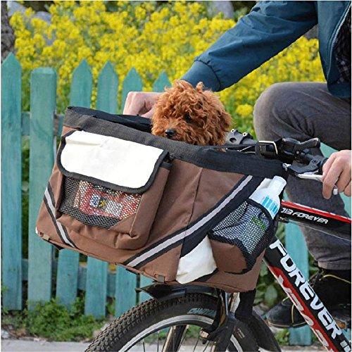 Dealglad Portable Pet Dog Cat Puppy Bike Bicycle Handleba...