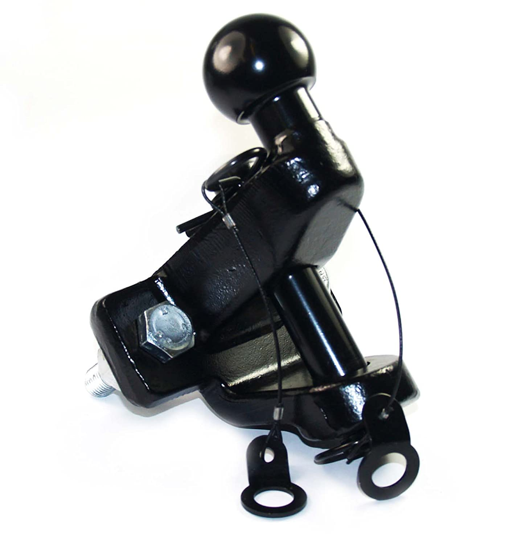 Craft-Equip Anh/änger-Kupplungskugel 50mm 2in1Doppelkupplung Kombi Kugelkopf KFZ