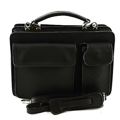 Genuine Leather Business Bag Mod. Mini Color Black
