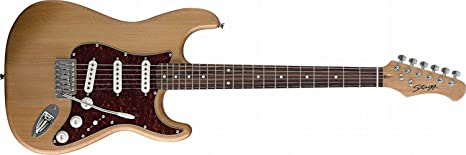 Stagg – Guitarra eléctrica – Principiantes Instrumento Stratocaster ...