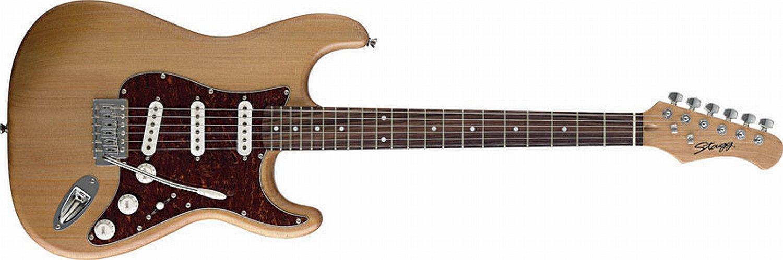 Stagg - Guitarra eléctrica - Principiantes Instrumento Stratocaster de copia - Color Natural Seidenglanz: Amazon.es: Instrumentos musicales