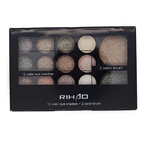 Rihao - Paleta de sombra de ojos, colores cálidos brillantes neutrales, sombra
