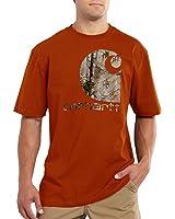 Carhartt Men's 101132 Short Sleeve Graphic Camo T-Shirt - Medium Regular - Rust