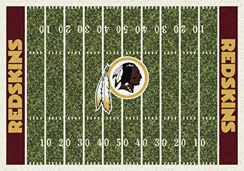 Washington Redskins NFL Team Home Field Area Rug by Milliken, 5'4