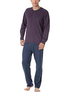 7016425387 Rössli Sam-PY 102 Men s Pyjama Set Long Sleeved Top Striped Long Pants