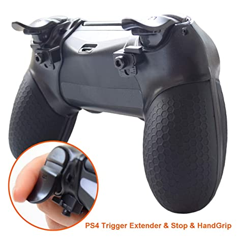 Pandaren PS4 Controller Grip, PS4 Trigger Extenders,PS4 Trigger Stops,  Silicone Attached Hand Grip Armor Case for PS4 Controller Playstation 4  /PS4