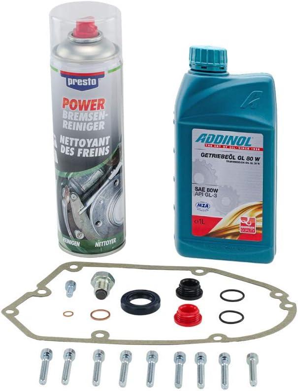 Ölwechsel Set Schrauben Bremsenreiniger Und 1 Liter Getriebeöl Für S51 S53 S70 S83 Ms50 Sr50 Sr80 Kr51 2 Auto