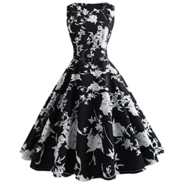 Women Long Dress,Rakkiss Vintage Sleeveless Casual Cocktail Prom Printed Bodycon Dress