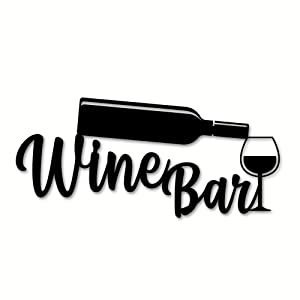 Personalized Bar Sign, Wine Decor, Wine Bar Sign, Mother's Day Gift, Wine Gifts, Wine Sign, Wine Bar Metal Wall Sign, Wine Glass Home Decor