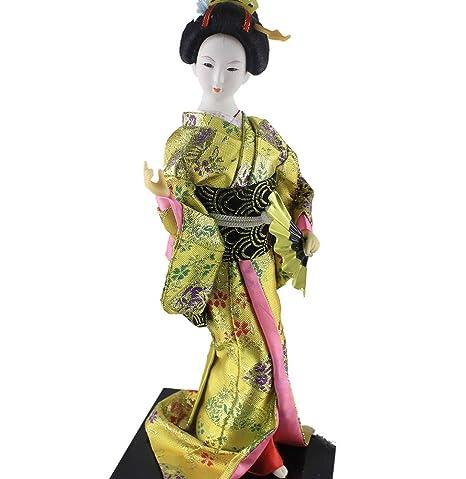 Amazon.com: Oriental Antigua Japonés Kimono Geisha Muñeca ...
