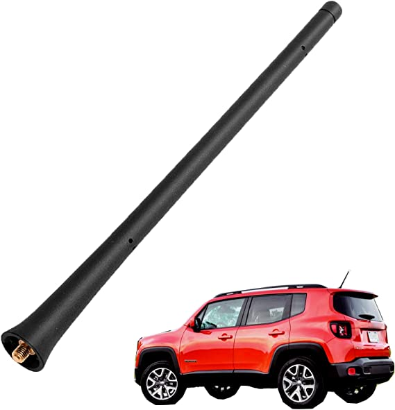 5091100-AA for 2011-2019 CHRYSLER JEEP DODGE Direct Replacement 7 inch Spiral Short Thread Screw Type Radio ANTENNA MAST Black
