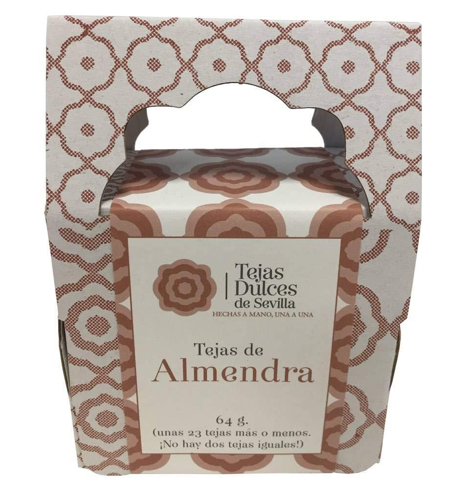 Tejas tradicionales dulces con almendra. Estuche para ...