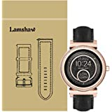Lamshaw Quick Release Smartwatch Band for Michael Kors Access Sofie Leather Strap Replacement Band for MK Access Smartwatch Sofie Gen 2v (Black)