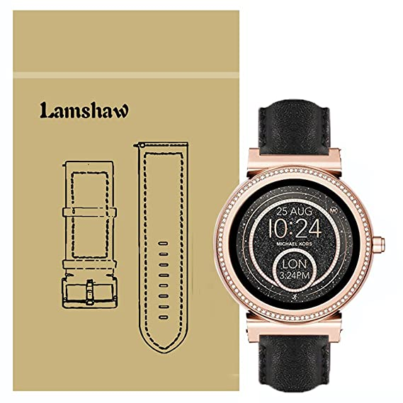 39a88c061669 Image Unavailable. Image not available for. Color  Lamshaw Quick Release Smartwatch  Band for Michael Kors Access ...