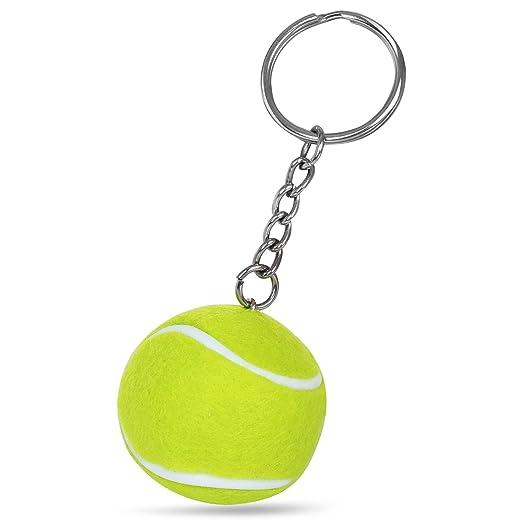 trixes Llavero con Cadena Motivo Mini Pelota de Tenis Verde ...