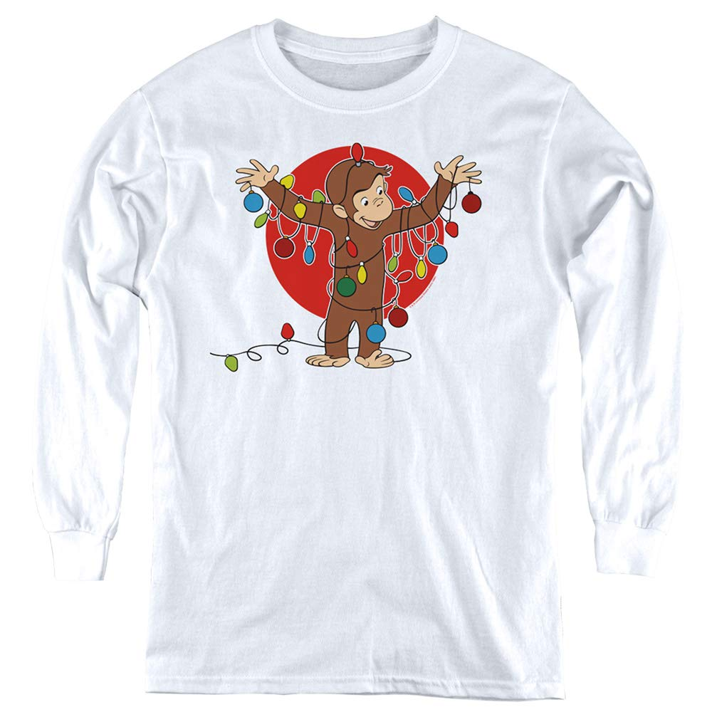 Curious George Lights Youth Long Sleeve T Shirt