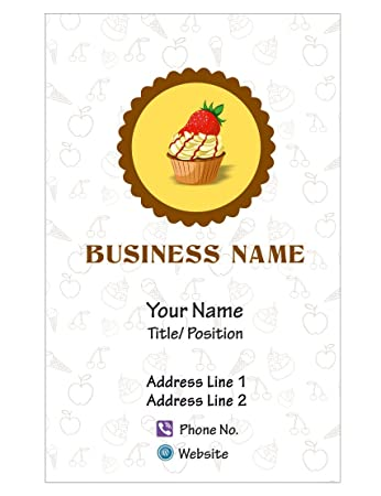 Design Your Own Personalized Business Card Cake Shop Custom Visiting