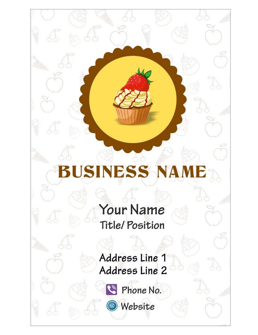 Dise–ar su propio negocio personalizada Tarjeta Custom de la torta Custom Tarjeta Shop Visiting Card-Frente ea40ee