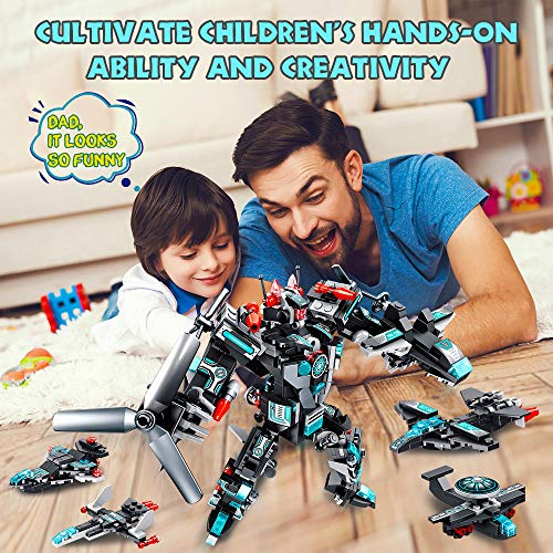 VATOS STEM Robot Building Toys, 577 PCS Construction Toys 25-in-1 STEM Toys for 6 Year Old Boys Creative Building Bricks Engineering Vehicles Blocks Kit for Kids Age 5 6 7 8 9 10 11 Year Old