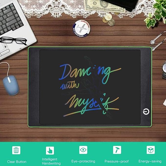 GD-LZAN 9.7 Pulgadas LCD a Color LCD de luz Tablero de Escritura, Rompecabezas de la energía Luminosa Pintura Infantil Pintada Mesa de Dibujo pequeña electrónica educación de la Primera,Rojo: Amazon.es: Deportes y
