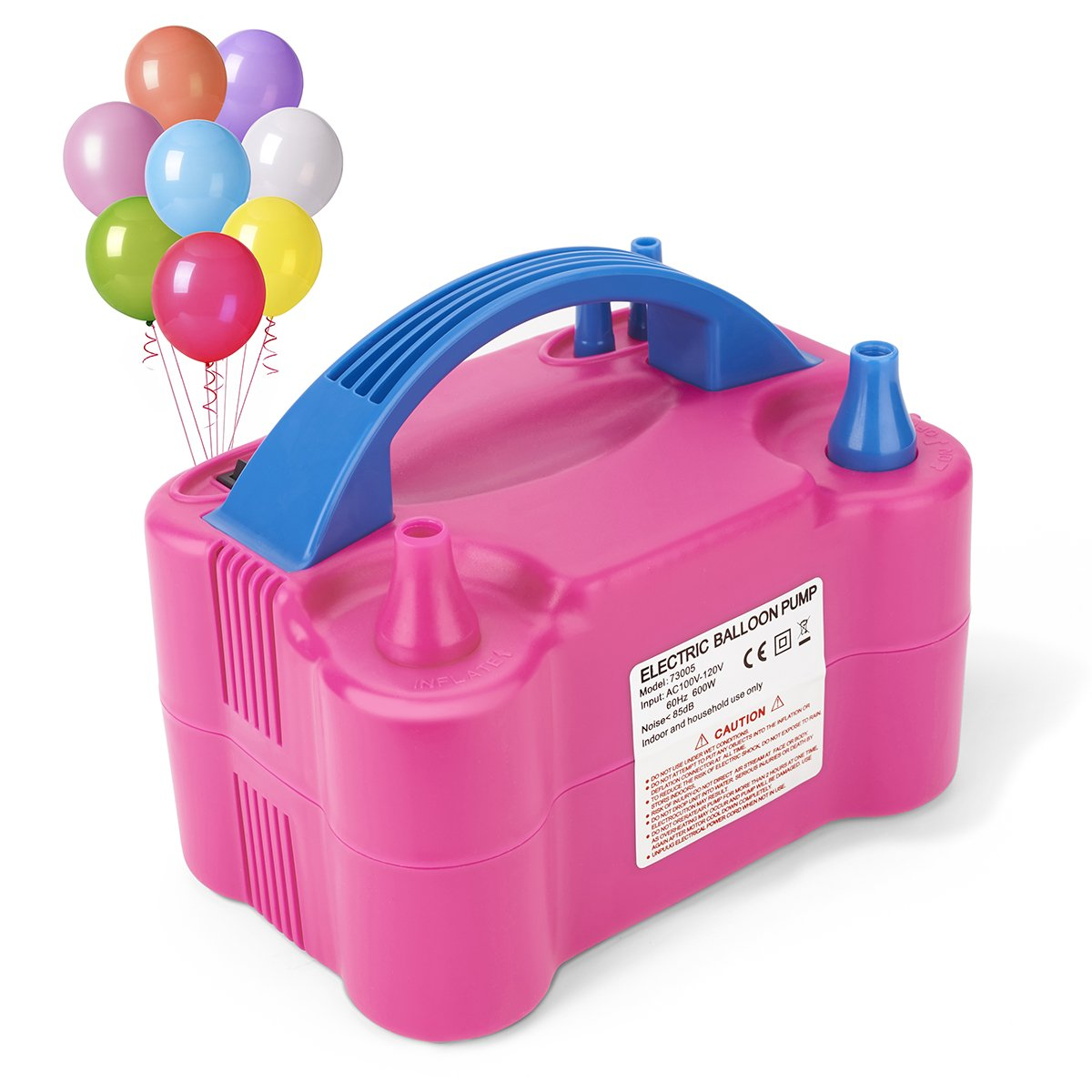 MESHA Electric Balloon Pump Portable Latex Balloon Inflator with Manual and Automatic Modes, Air Pump for Balloons