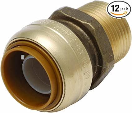 """1 PC 3//4/"""" PUSH FIT X 3//4/"""" MALE THREADED ADAPTER REPLACE FOR SHARKBITE U134LF"""