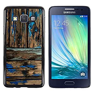 Be Good Phone Accessory // Dura Cáscara cubierta Protectora Caso Carcasa Funda de Protección para Samsung Galaxy A3 SM-A300 // Rustic Wood Pattern Worn Out Paint