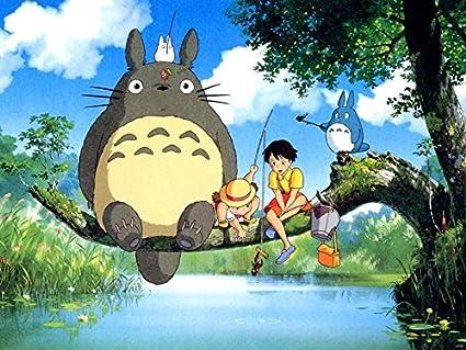 Amazon.com: wv6158 Mi vecino Totoro hermoso Pintura Tonari ...