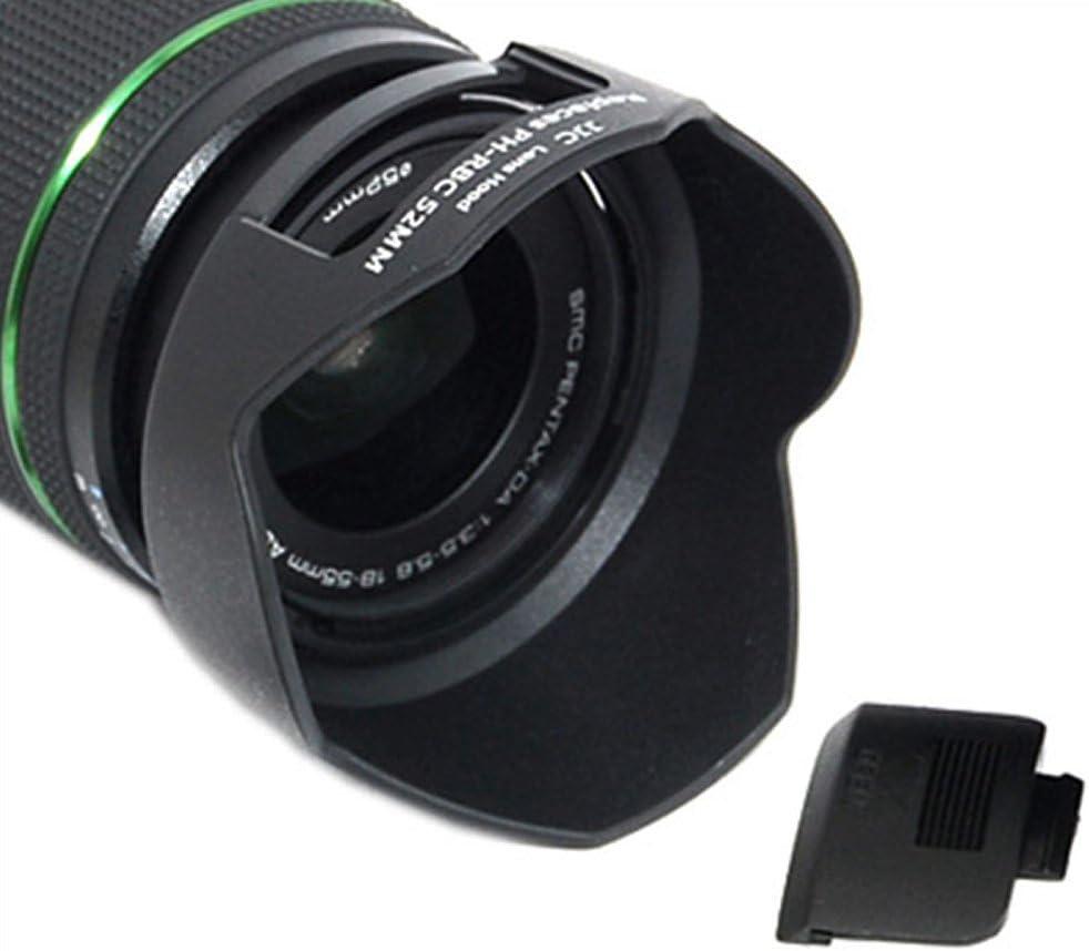 JJC LH-RBC-52MM Bayonet Lens Hood Shade for Pentax smc DA 18-55mm F3.5-5.6 AL WR Lens Replaces Pentax PH-RBC