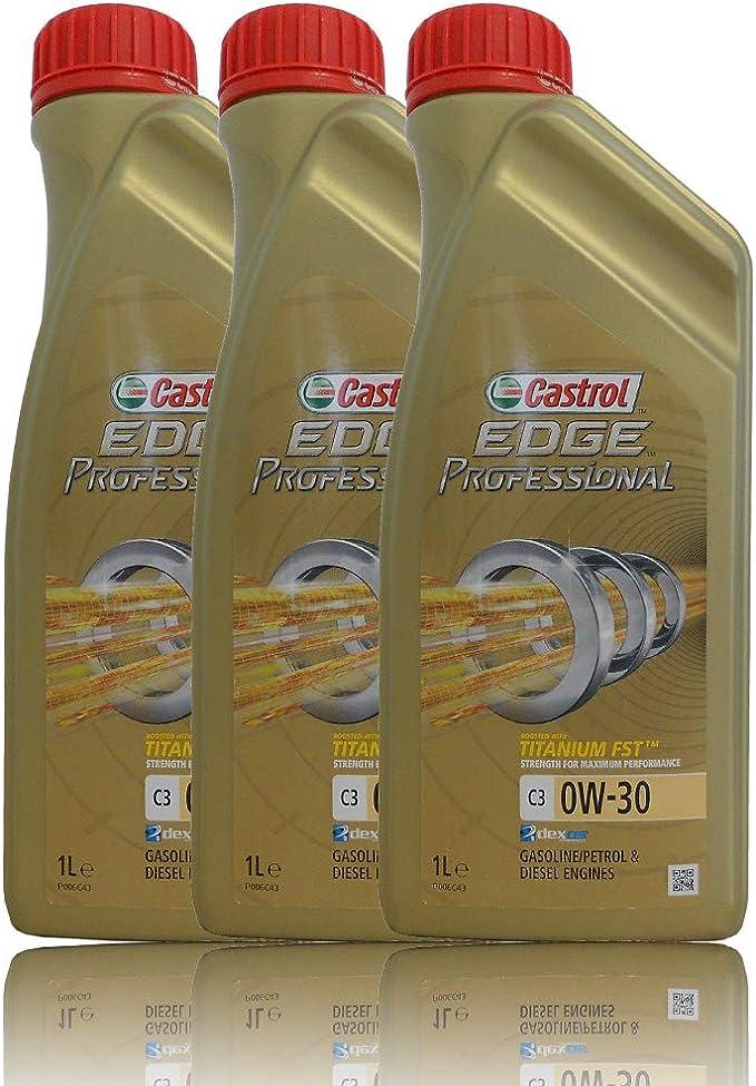 Castrol Edge 0W-30 C3 Aceite sintético Completo para Motor 229.51 505.00 LL04, 3 litros: Amazon.es: Coche y moto
