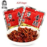 Lao Gan Ma spicy food, pickled mustard tuber under meals, pickled vegetables in bags. (20bags)
