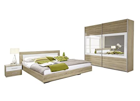 Rauch Schlafzimmer Komplett-Schlafzimmer Set mit Bettanlage 180 x ...