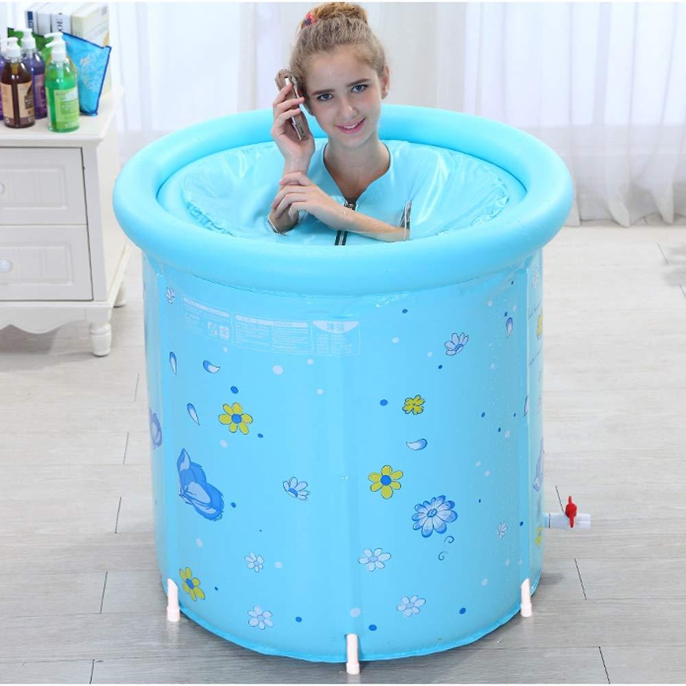 Baignoire gonflable pliable de grande taille de bain de baignoire gonflable de baignoire de plastique de 80x80cm XL pour ladulte
