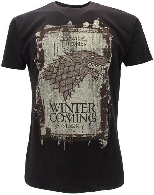 T-Shirt Camiseta Winter IS Coming Familia Casa Stark Serie de Televisión Juego DE Tronos Game of Thrones - 100% Oficial HBO: Amazon.es: Ropa y accesorios