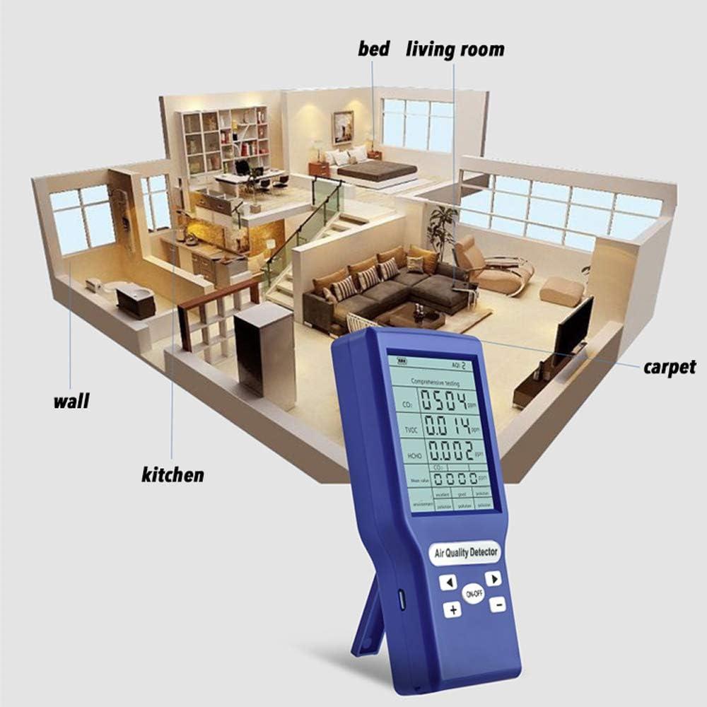 Medidores Multifuncionales de Co2 Ppm Mini Detector de Di/óxido de Carbono Analizador de Gases Probador de Calidad del Aire Protable Baugger Probador de Calidad del Aire