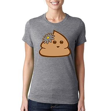 Emoticon smiley cute funny parody Dammen baumwolle t-shirt: Amazon.de:  Bekleidung