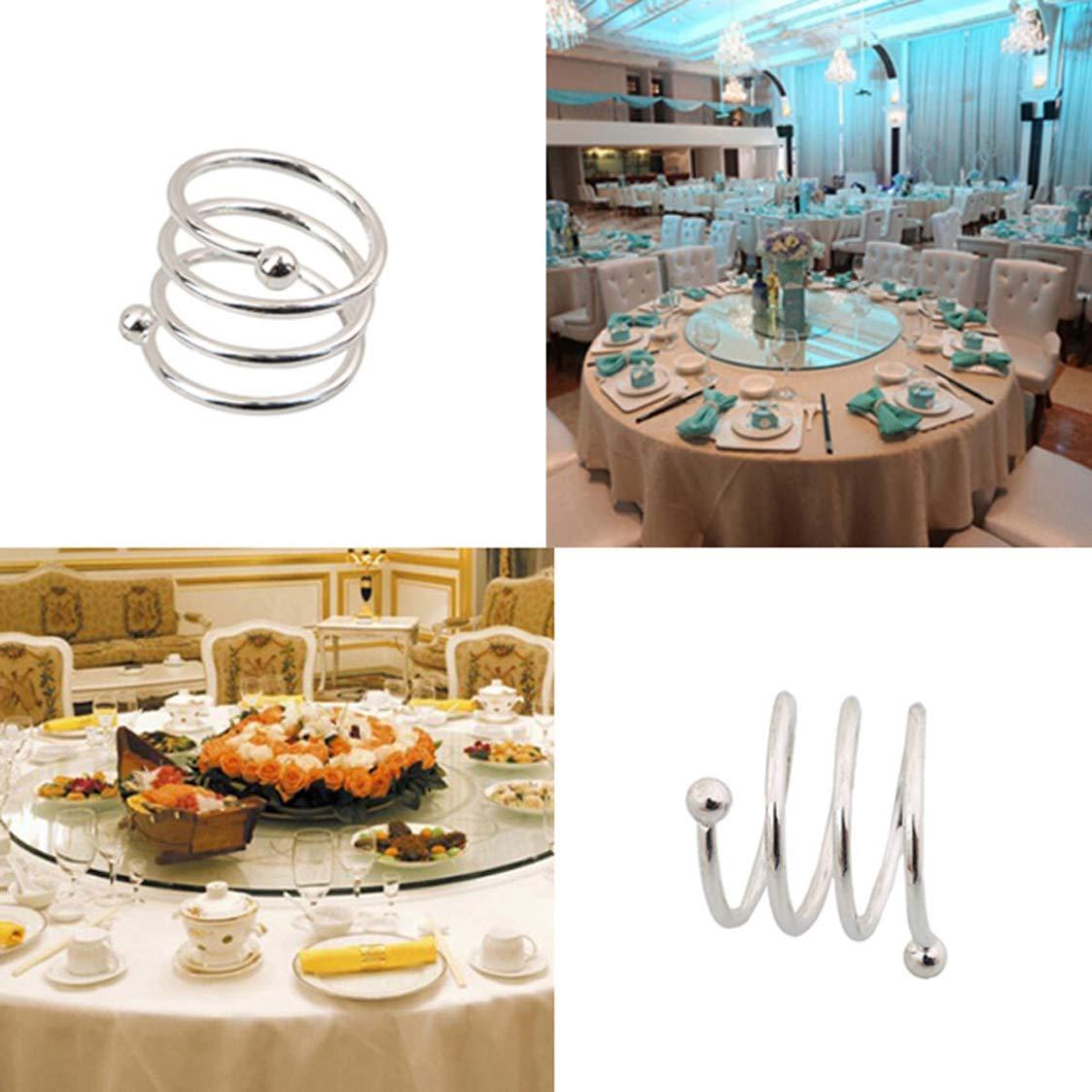 Creative Gifts - Servilletero de plata con muelles para bodas ...