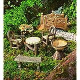 Woodland Fairy Garden Resin Furniture Set