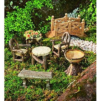 Amazon Com Plow Amp Hearth Miniature Garden Woodland