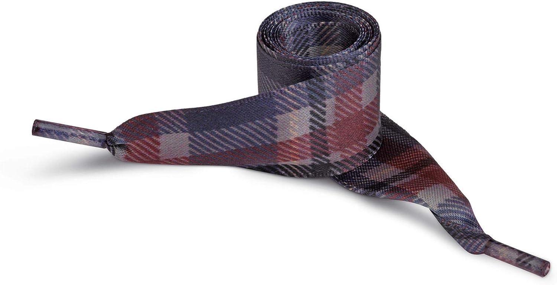 TuoLace Lacci colorati per scarpe TARTAN 2 stringhe