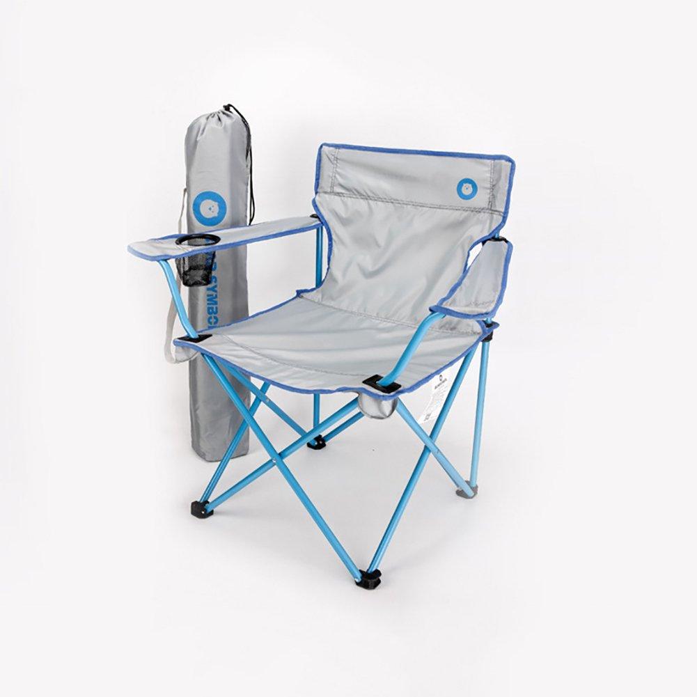 YAN Faltender Camping-Stuhl-reißfestes Nylon Plaid-leichtes tragbares Festival-Fischen-im Freienreisesitz (Farbe : 1)
