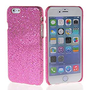 MOONCASE Glitter Hard Rubber Coating Back Case Cover for Apple iPhone 6 ( 4.7 inch ) Pink